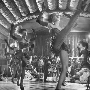 Chorus Girls Dancing During Show at Latin Quarter by George Silk