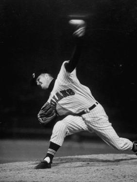 Cleveland Indians Herb Score Throwing the Ball by George Silk