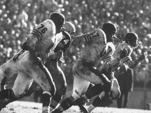 Game Between the Baltimore Colts Vs. the Chicago Bears by George Silk