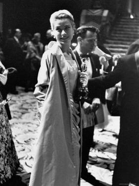 Grace Kelly Holding Her Best Oscar by George Silk