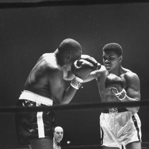 Heavyweight Bout in Which Cassius Clay Narrowly Defeated Doug Jones by George Silk