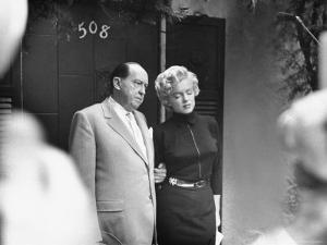 Marilyn Monroe with Her Lawyer Jerry Giesler After Announcement of Her Divorce From Joe DiMaggio by George Silk