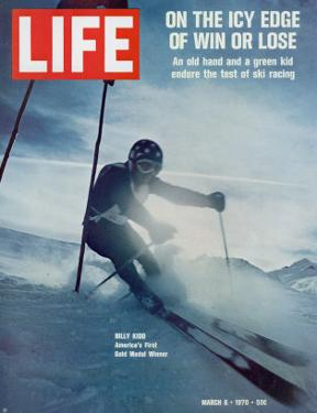 On the Icy Edge of Win or Lose, Billy Kidd, America's First Gold Medal Winner, March 6, 1970 by George Silk