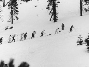 Ski Slope at Squaw Valley During Winter Olympics by George Silk