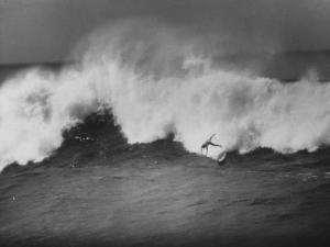 Surfer Fred Van Dyke Riding Giant Wave by George Silk