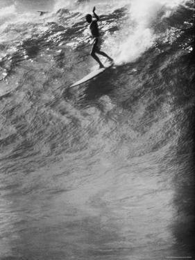 Surfer Riding a Giant Wave by George Silk