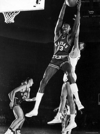 University of Kansas Basketball Star Wilt Chamberlain Playing in a Game