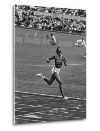 US Sprinter, Wilma Rudolph, Winning Women's 100 Meter Dash in Olympics by George Silk
