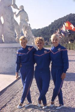Usa Gymnasts Sharon Richardson, Doris Fuchs, and Muriel Davis-Grossfeld, 1960 Rome Olympic Games by George Silk