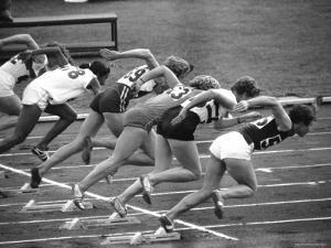 Women Runners Competing at the Olympics by George Silk