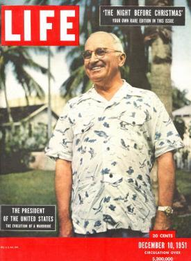 President Harry Truman in Casual Shirt, December 10, 1951 by George Skadding