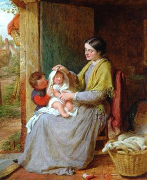 Playing With Baby, 1863 by George Smith