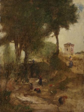 Sketch for Washing Day Near Perugia, 1873
