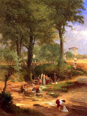 Washing Day Near Perugia, Italy, 1873