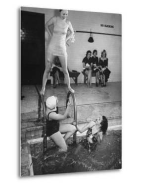 Navy Wives Playing at the Swimming Pool Together by George Strock
