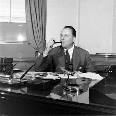Portrait of American Businessman and Founder of Pan American Airways Juan Trippe, NY 1941