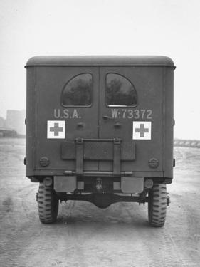 Rear View of Ambulance by George Strock
