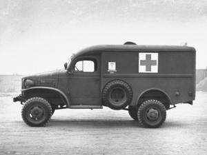 Side View of Ambulance by George Strock