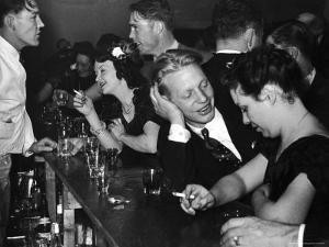 Typical Small Town Bar Scene During a Benevolent and Protective Order of Elks Party by George Strock