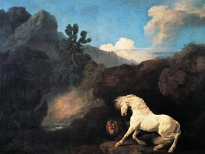 A Horse Frightened by a Lion, 1770 by George Stubbs