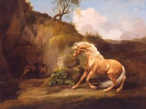 A Horse Frightened by a Lion, c.1790-5 by George Stubbs