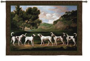 Foxhounds in a Landscape by George Stubbs