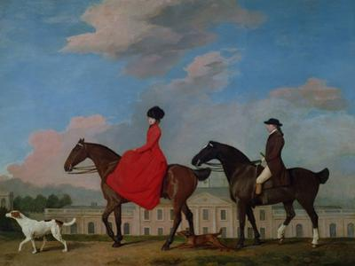 John and Sophia Musters Riding at Colwick Hall, 1777 by George Stubbs