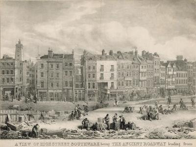 A View of High Street, Southwark, London, Being the Ancient Roadway