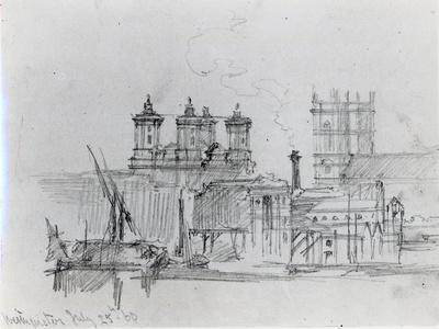 Sketch of Westminster, 1860