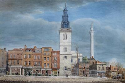 View of St. Michael Church, Crooked Lane, London, Designed by Christopher Wren, During…