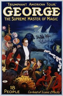 George the Supreme Master of Magic Poster