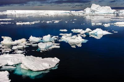 Antarctica, Antarctic Sound, calm waters, ice by George Theodore