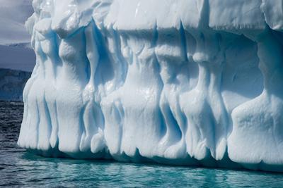 Antarctica, Gerlach Strait, blue ice formation by George Theodore