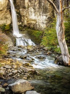 Argentina, El Chalten, Patagonia, Los Glaciares, waterfall by George Theodore