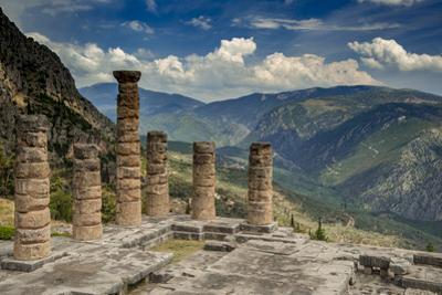 Greece, Delphi, Temple, Apollo by George Theodore