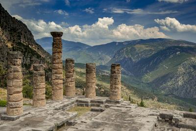 Greece, Delphi, Temple, Apollo
