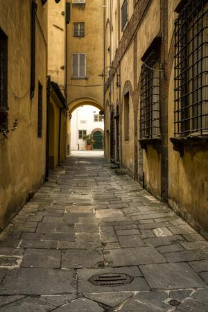 Italy, Lucca, alleyway