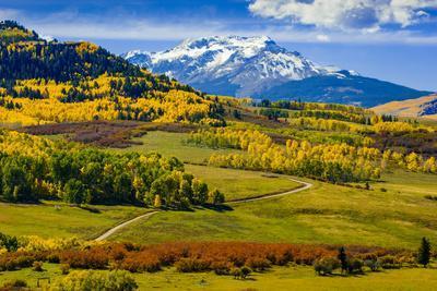USA, Colorado, fall colors, vista