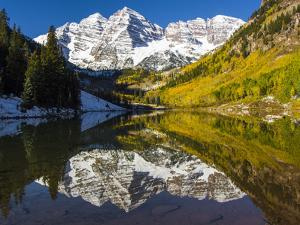 USA, Colorado, Maroon Bells by George Theodore