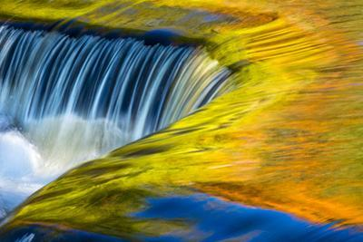 USA, Michigan, waterfall, abstract by George Theodore