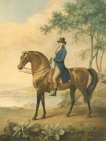 Warren Hastings on His Arabian Horse, 1796 (W/C on Paper)