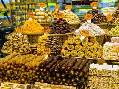 Variety of Turkish Sweets for Sale at Spice Bazaar