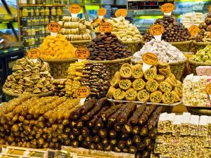 Variety of Turkish Sweets for Sale at Spice Bazaar by George Tsafos
