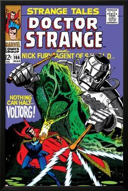 Strange Tales No.166 Cover: Dr. Strange and Voltorg by George Tuska