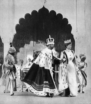 George V and Queen Mary in Delhi, India, 1911