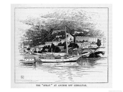 The Boat Which Joshua Slocum Rebuilt and Sailed Single- Handed Round the World at Gibraltar