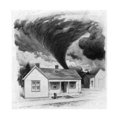 Tornado Approaches Kirksville, Missouri, 1889