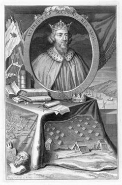 Alfred the Great, King of Wessex, 9th century (18th century) by George Vertue