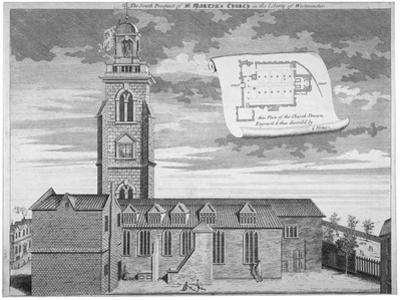 Church of St Martin-In-The-Fields, Westminster, London, C1720 by George Vertue
