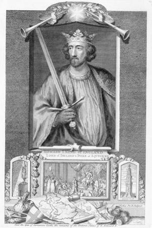Edward I, King of England, (18th century) by George Vertue